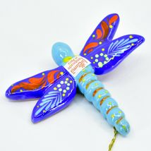 Handcrafted Painted Ceramic Dragonfly Confetti Ornament Made in Peru image 4