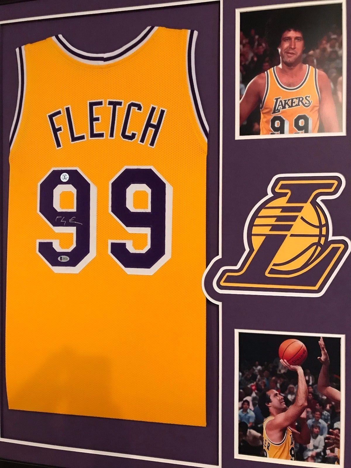 cf3abaf94 Chevy Chase Autographed FLETCH Custom Framed Los Angeles Lakers Jersey BAS  COA