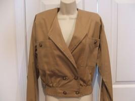 New in pkg frederick's of hollywood khaki tan RETRO jacket jr. small 5-7 - $14.10