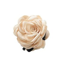 Fashion Verisimilitude ROSE Jaw Clip Hair Styling Claws, 3.1 inches, BEIGE