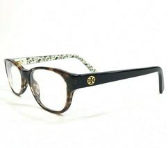 Tory Burch TY2031 3154 Eyeglasses Frames Brown Tortoise Black Floral Cat... - $28.04