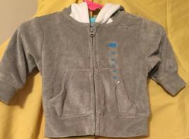 Childrens Place 0-3 Gray Hoodie Baby Shark Hood Fall Jacket Infant Sweatshirt - $7.23