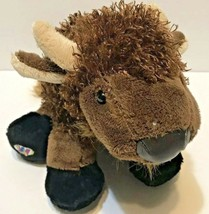 GANZ Webkinz Buffalo HM336 Brown with Vinyl Nose Black Feet  - $9.63