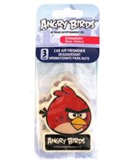 Angry Birds Red 3 pack Hanging Air Freshener Red Bird Strawberry Scent A... - $5.99