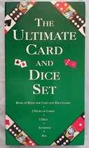 The Ultimate Card and Dice Set w rule Book - Game - Boxed! 2 Decks Cards... - $11.49