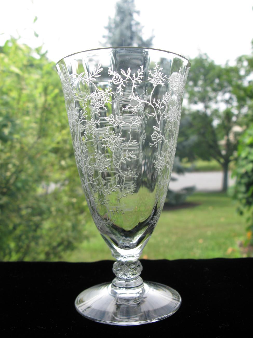 Primary image for Fostoria Chintz Etched Footed Juice Tumbler