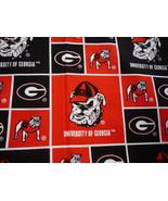 University of Georgia Bulldogs Syskel Polyester Fabric FQ 18 x 22 - $5.00