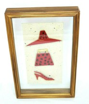 Red Hat Shadow Box Teak Floating Frame 10x15x2.5 Handcrafted Wall Hangin... - $26.89
