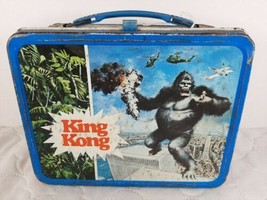 1977 Vintage KING KONG Metal LUNCH BOX movie rare old no thermos classic htf vtg - $79.99
