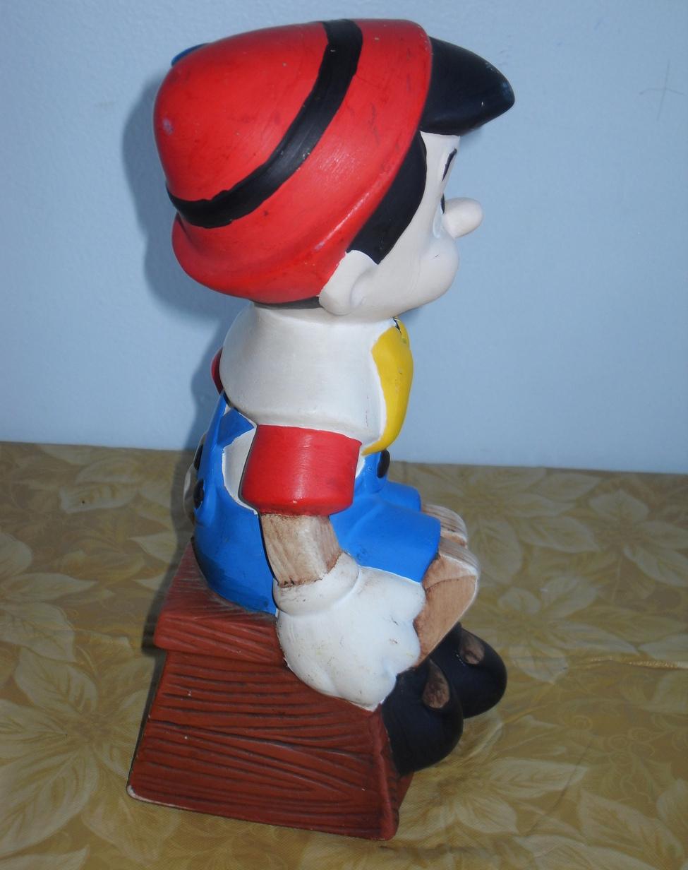 Disney Pinocchio Ceramic Figurine 10 Inches Tall