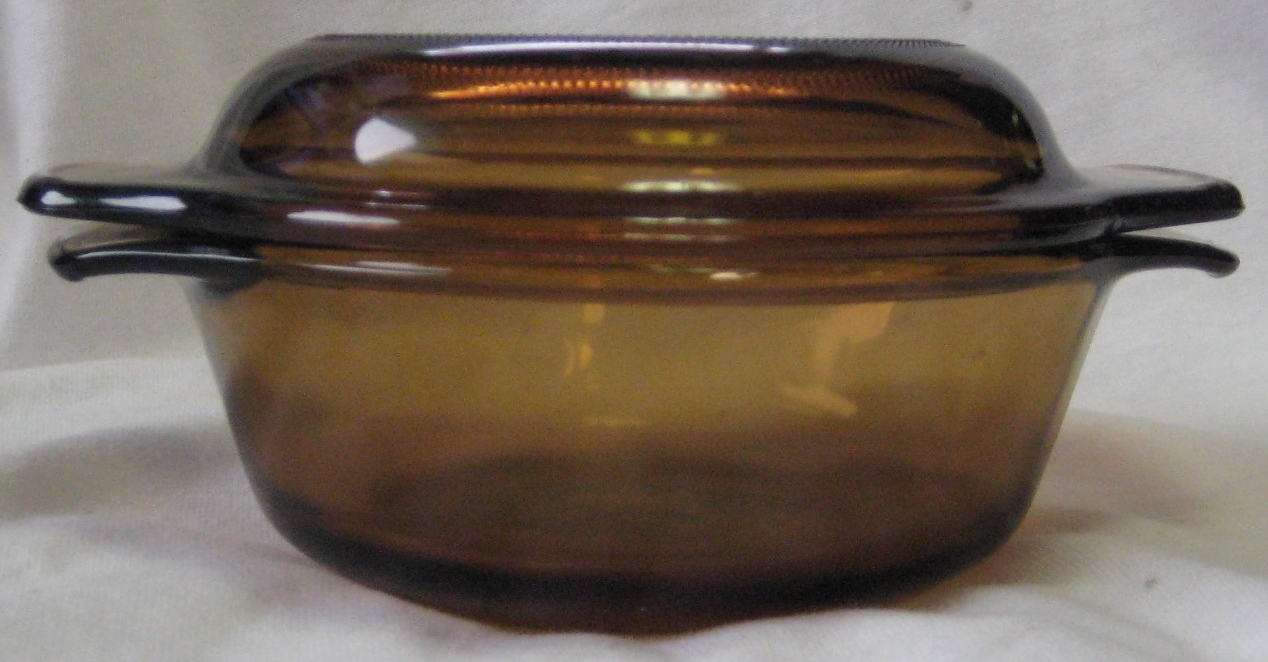 Anchor Hocking Individual Casserole Dish & Lid Amber Color #472