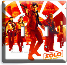 A STAR WARS HAN SOLO STORY CHEWBACCA 2 GANG LIGHT SWITCH WALL PLATE ROOM... - $11.69