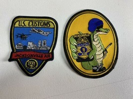 (2) U.S. Customs Jacksonville Air Patch Lot Insignia Gator Florida  - $19.79