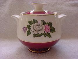 Homer Laughlin Cavalier eggshell sugar bowl with lid 1953 - $11.81