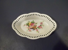Very Nice Rare Vintage SCHUMANN Bavaria Nut Dish With Scalloped And Pier... - $15.83