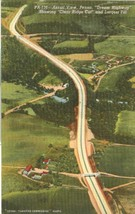 Aerial View, Penna Dream Highway, showing clear ridge cut, unused linen ... - $4.99