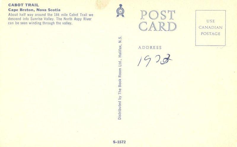 Canada, Cabot Trail, Cape Breton, Nova Scotia, unused chrome Postcard