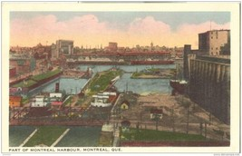 Canada, Part of Montreal Harbour, Montreal, Que 1951 used Postcard  - $4.99