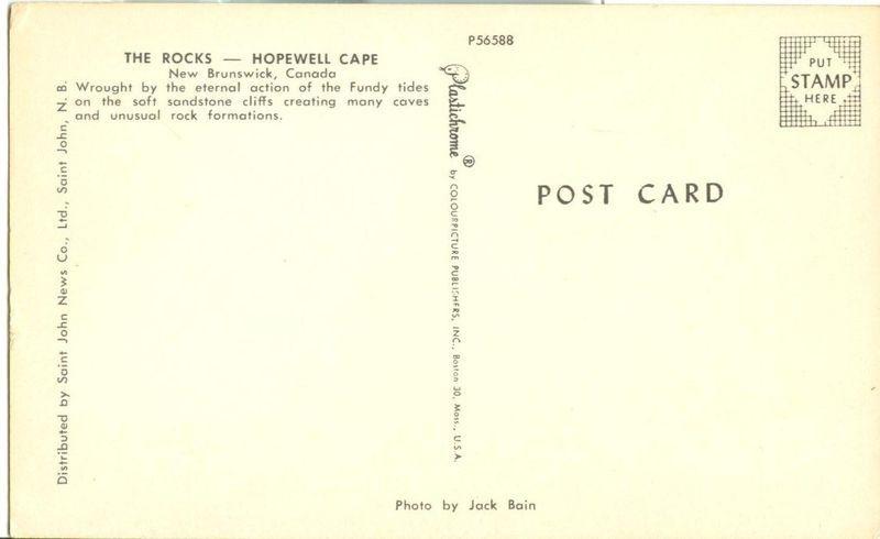 Canada, The Rocks, Hopewell Cape, New Brunswick, unused Postcard