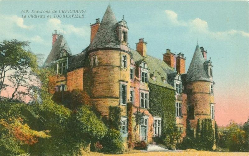 France Environs de Cherbourg, Le Chateau de Tourlaville CPA early 1900s postcard