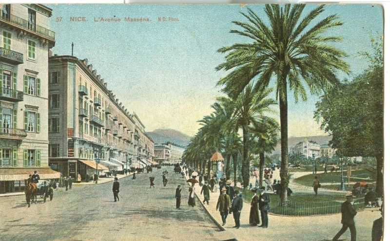 France, Nice, L'Avenue Massena CPA 1910 used Postcard