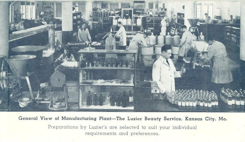 General View of Manufacturing Plant, The Luzier Beauty Service, Kansas City