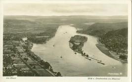 Germany, Am Rhein, Blick v, Drachenfels ins Rheintal unused Real Photo P... - $7.99