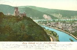 Germany, Burg Lahneck mit der Lahn-Mundung 1904 used Postcard  - $6.77