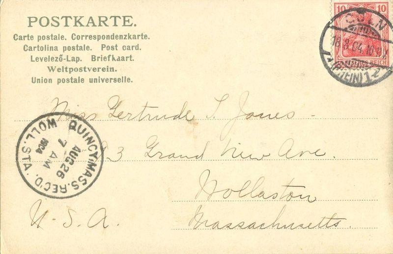 Germany, Burg Lahneck mit der Lahn-Mundung 1904 used Postcard