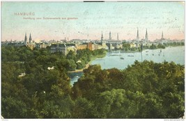Germany Hamburg vom Schwanenwik aus gesehen 1907 used Postcard  - $3.99