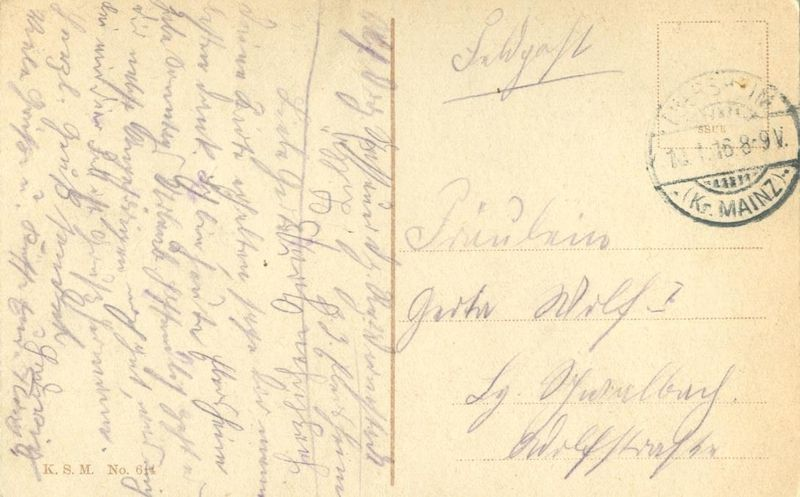 Germany, Mainz, Dom von Leichhof 1916 used Postcard