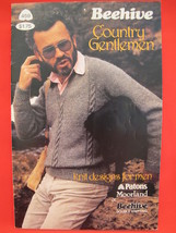 Vintage Patons Beehive Knitting Patterns Vests Cardigan Pullover Sweaters MENS  - $5.99