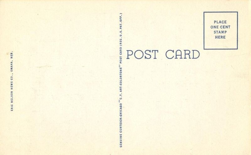 Hotel Fontenelle, Omaha, Nebraska, unused linen Postcard