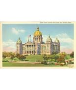 Iowa State Capitol, Des Moines, Iowa  unused linen Postcard  - $3.99