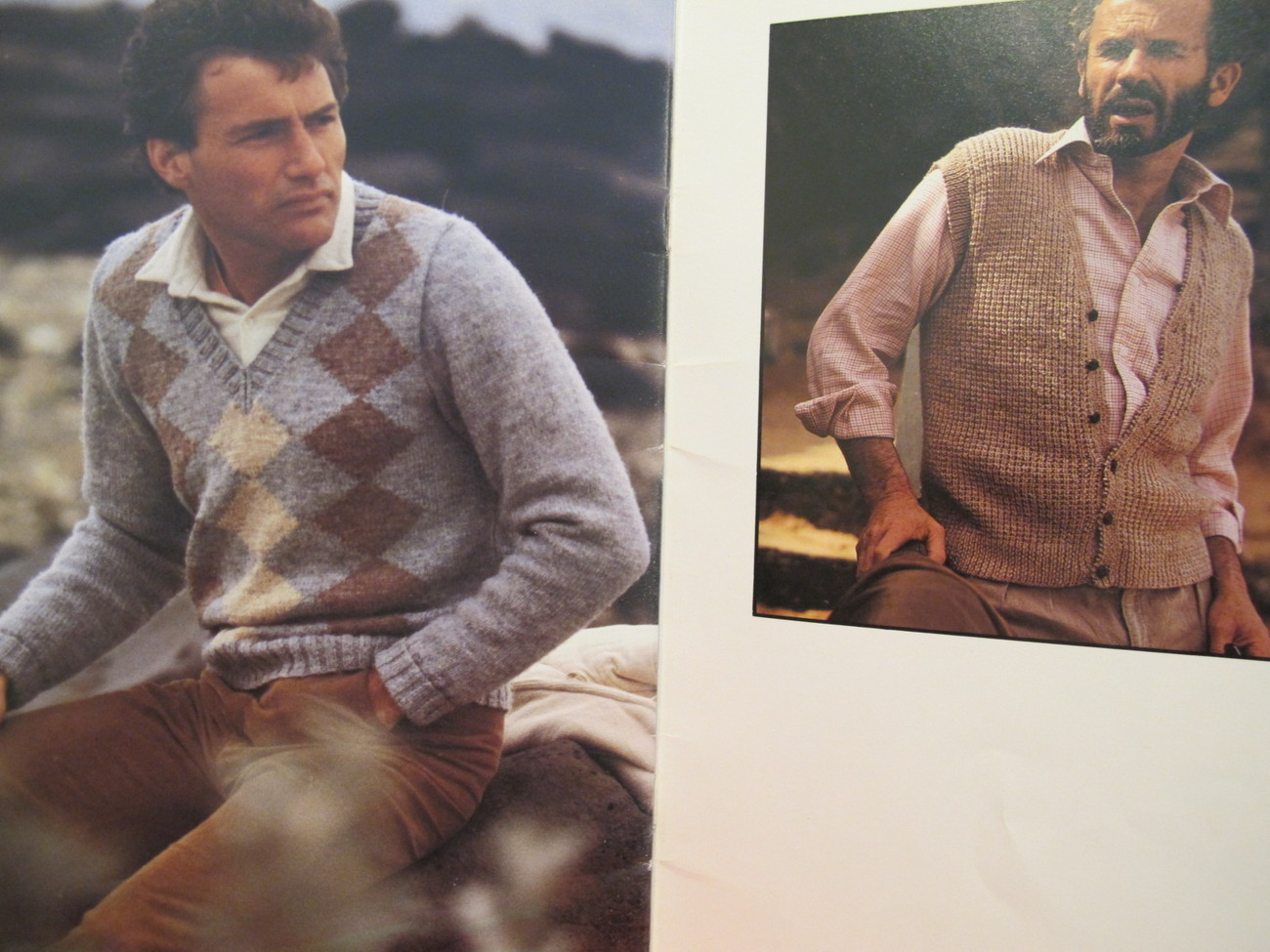 Vintage Patons Beehive Knitting Patterns Vests Cardigan Pullover Sweaters MENS