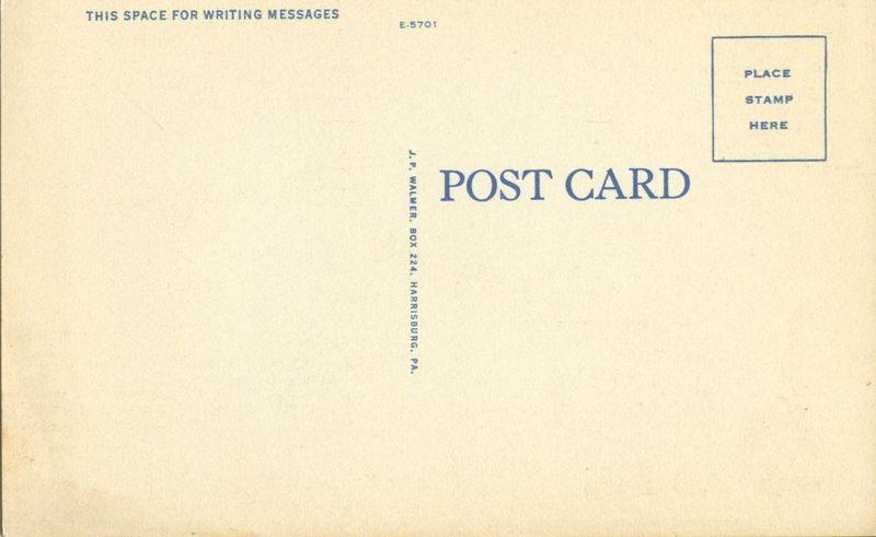 New Post Chapel, Carlisle Barracks, Carlisle, Pa 1940s unused linen Postcard