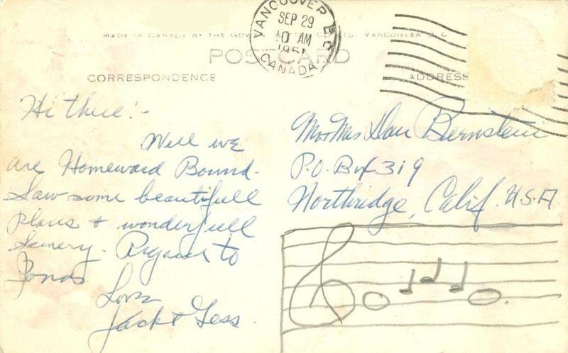 S.S. Princess of Nanaimo, 1951 used Real Photo RPPC Postcard