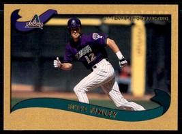 2002 TOPPS GOLD STEVE FINLEY /2002 #522 - $1.79