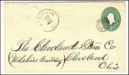 1888 Brooklyn OH Discontinued/Defunct (DPO) Post Office Postal Cover - $9.95