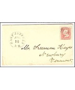 c1862 East Jaffrey NH Discontinued/Defunct (DPO) Post Office Postal Cover - €8,44 EUR
