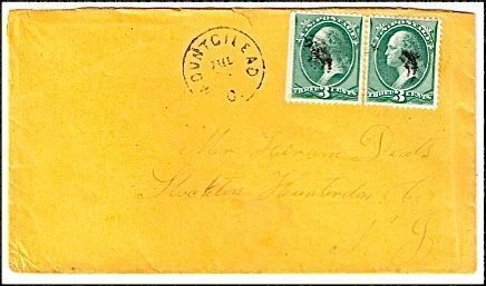 c1870 Mount Gilead OH Vintage Post Office Postal Cover