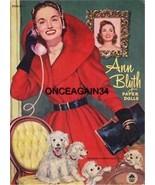 VINTAGE UNCUT 1952 ANN BLYTH PAPER DOLLS REPRODUCTION~GREAT HTF MERMAID ... - $17.50