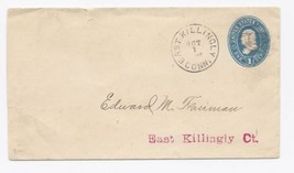c1880 East Killingly CT Vintage Post Office Postal Cover - $9.95