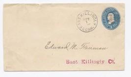 c1880 East Killingly CT Vintage Post Office Postal Cover - $9.95