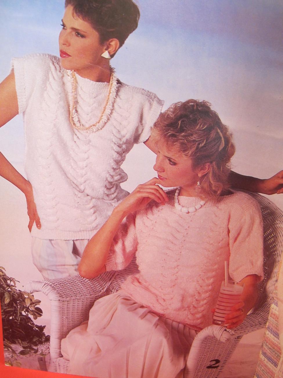 Vintage Patons Beehive Knitting Patterns Beach Summer Sweaters LADIES