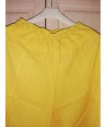 Vintage yellow cotton flare skirt pants - $30.00