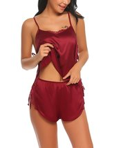 Womens Satin Pajamas Sleepwear Sexy Cami Shorts Pajama Sets - $35.95