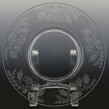 Tiffin Fuchsia Elegant Glass Plate Luncheon Plates a set of 8 image 7