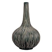Zebra African Ceramic Vase - 11 Inch - $85.00