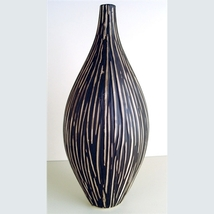 Zebra African Ceramic Vase - 15 Inch - $85.00